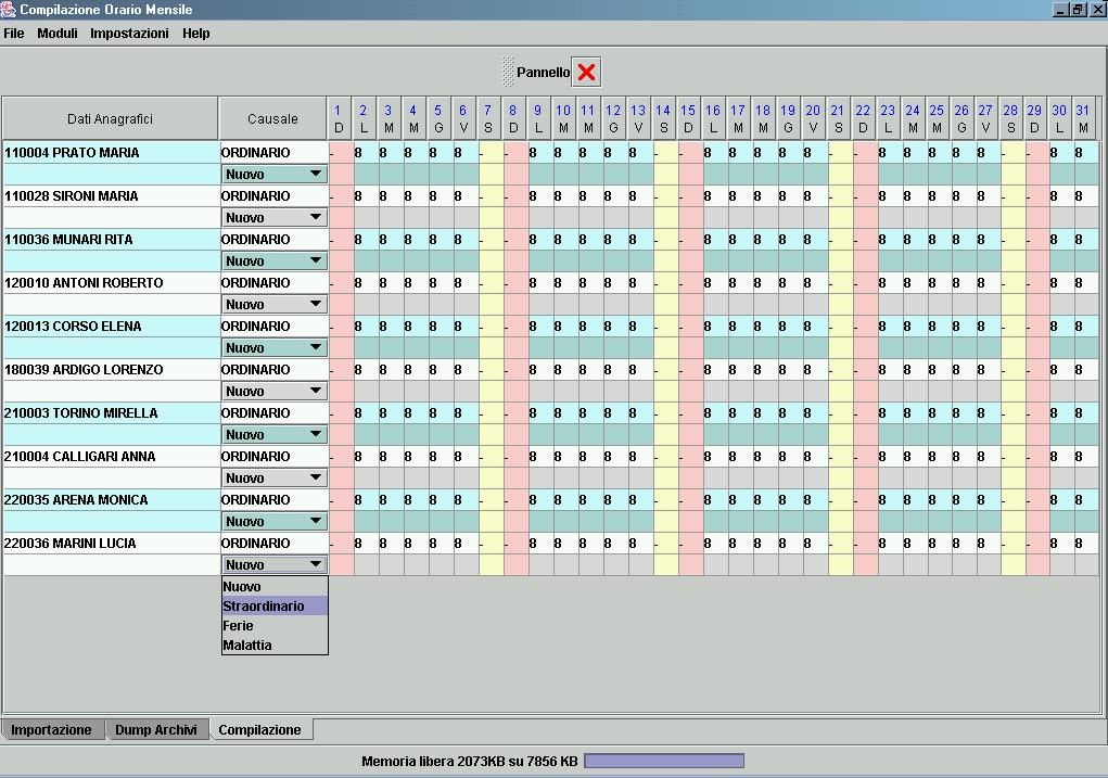 Calendario Presenze Excel.Day By Day Produttori Di Software Dal 1976